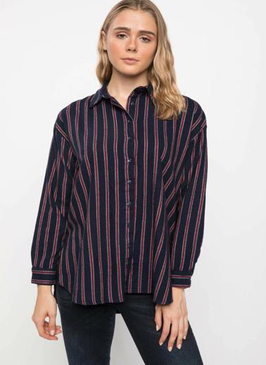 DeFacto Kareli Gömlek Tunik Kırmızı